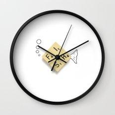 Fish Scrabble Wall Clock