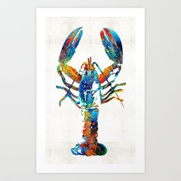 Colorful Lobster Art by Sharon Cummings Art Print