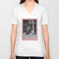 stone V-neck T-shirts featuring Stone by Thrashin