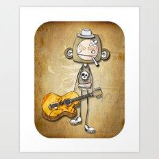 guitar chimp Art Print