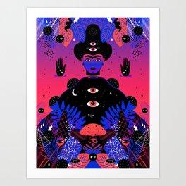 Noche Tropical  de Frida Art Print