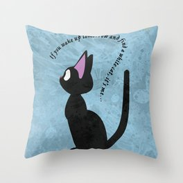 Jiji the Cat Throw Pillow