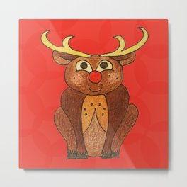 Rudolph the red-nosed Reindeer Metal Print