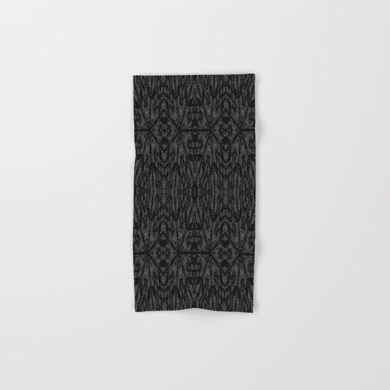 Slate Gray Black Pattern Hand & Bath Towel