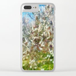 Almond Orchard Blossom Clear iPhone Case