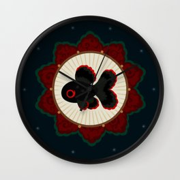 Butterfly goldfish Wall Clock