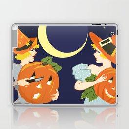 Vintage Halloween Costume Party Pumpkin Carving Laptop & iPad Skin