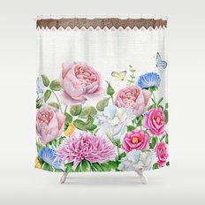 Sweet Bouquet of Flowers Shower Curtain