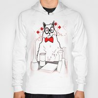 chemistry Hoodies featuring Chemistry Cat by MAKE ME SOME ART