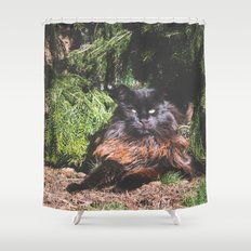 The king of the cats Shower Curtain