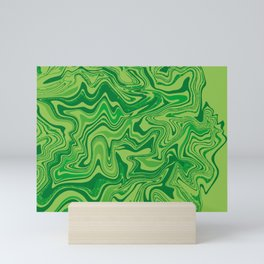 Green Agate Liquid Marble Mini Art Print
