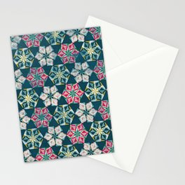 Origami Flower - teal Stationery Cards