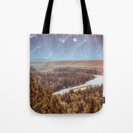 Grand Teton National Park Snake River Overlook Print Tote Bag