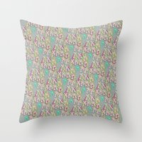 keith haring Throw Pillows featuring Haring Squiggle by Indigo Images