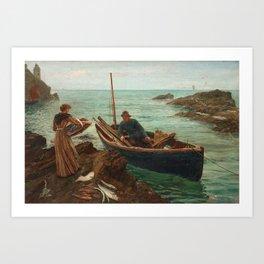 CHARLES NAPIER HEMY, THE FISHERMANS SWEETHEART Art Print