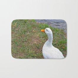 White Duck by Pond Bath Mat
