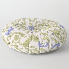 Butterfly Leaf Baroque Floral Floor Pillow