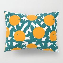 Art Deco Minimalist Orange Grove Pillow Sham