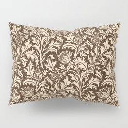 William Morris Thistle Damask, Taupe Tan and Beige Pillow Sham