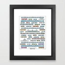 The Transit of Greater Seattle Framed Art Print