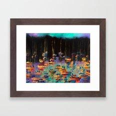 Morning Sailboats Framed Art Print