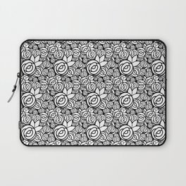 Black & White Rosettes Laptop Sleeve