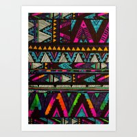 coasters Art Prints featuring ▲HUIPIL▲ by Kris Tate