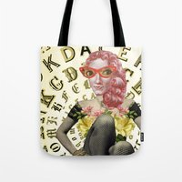 font Tote Bags featuring FONT by Julia Lillard Art