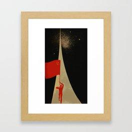 all the way up to the stars - soviet union propaganda Framed Art Print