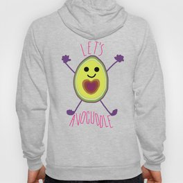 Let's Avocuddle AVOCADO - dark bg Hoody