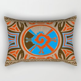Colorful Hunab Ku Mayan symbol #4 Rectangular Pillow