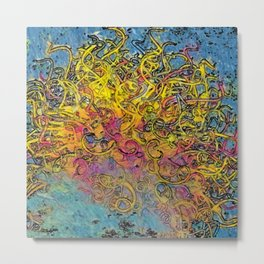 Painterly Ball of Yarn Metal Print
