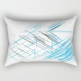 Lines, Blue and black Stripes Rectangular Pillow