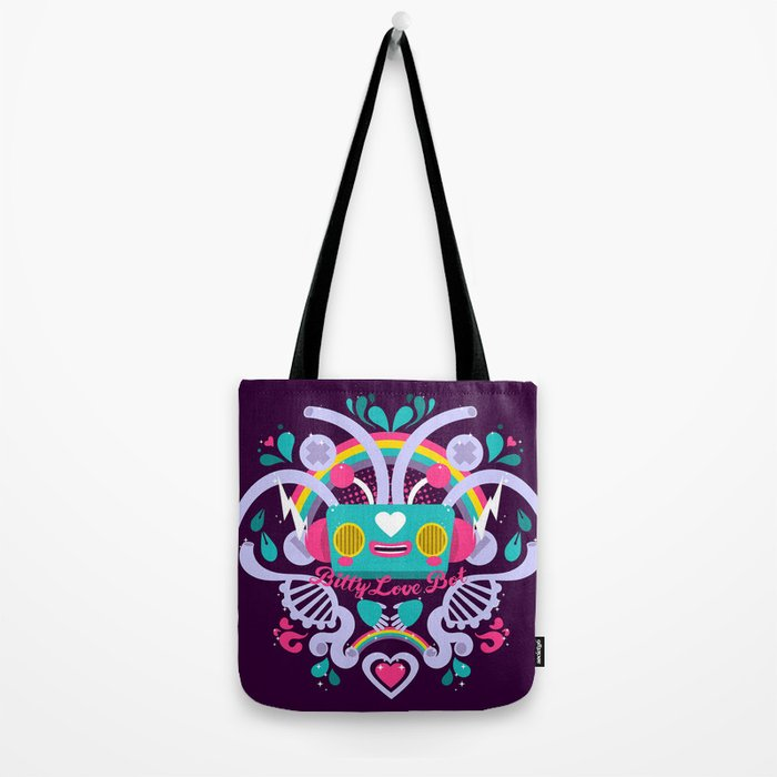 Bitty Love Bot Tote Bag