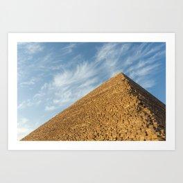 Pyramid of Khufu (Cheops), Giza, Egypt Art Print