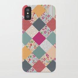 paper cut flower diamonds iPhone Case