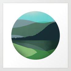 Green Marble Landscape Art Print