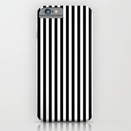 Abstract Black and White Vertical Stripe Lines 12 iPhone Case