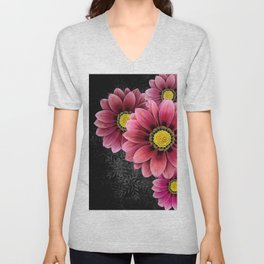 zany flowers Unisex V-Neck