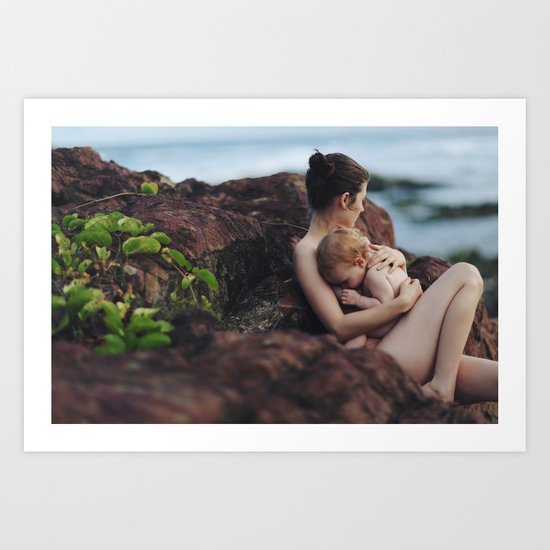 Bare skin love Art Print
