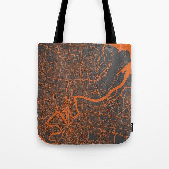 Brisbane Map Tote Bag