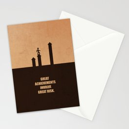 Lab No. 4 -Great Achievements Involve Great Risk Corporate Start-Up Quotes Poster Stationery Cards
