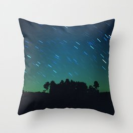 Film Night Sky  Throw Pillow