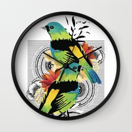 Green-headed Tanager Wall Clock