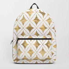 Gold Diamond Pattern Backpack