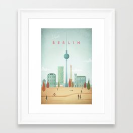 Vintage Berlin Travel Poster Framed Art Print