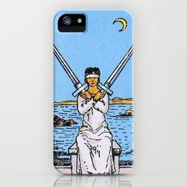 2 of Swords iPhone Case