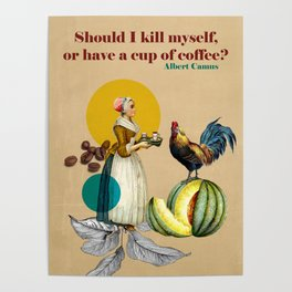 Coffee Quote Print Poster