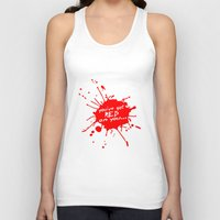 shaun of the dead Tank Tops featuring Shaun oF The Dead  |  You've Got Red On You... by Silvio Ledbetter