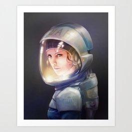 Portrait of Iwah Art Print